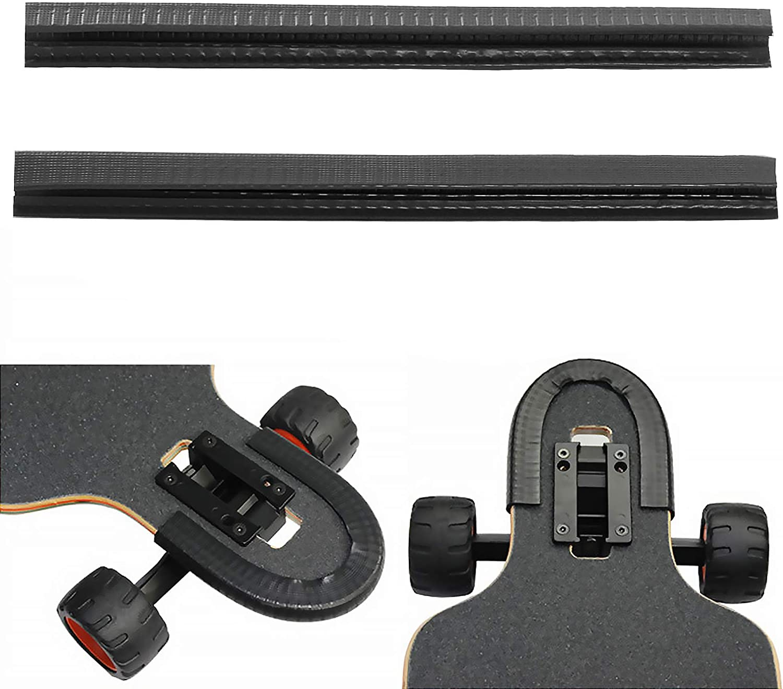Skateboard Deck Guards Protector U Channel Design Longboard Rubber StriNWUSWI