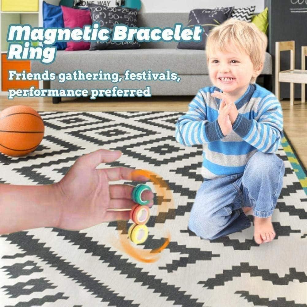 Fingears Anneau Magique Magn/étique de D/écompression GONGYBZ Anneaux Magn/étiques Fidget Toy Anneau Magique de Jouet pour Le Soulagement de lanxi/ét/é au Stress Blue-3pcs