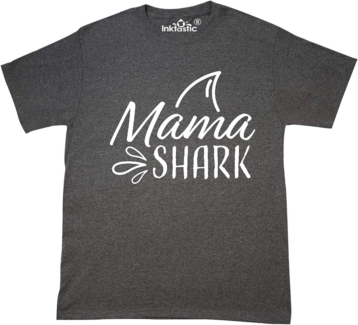 inktastic Mama Shark with Shark Fin T-Shirt