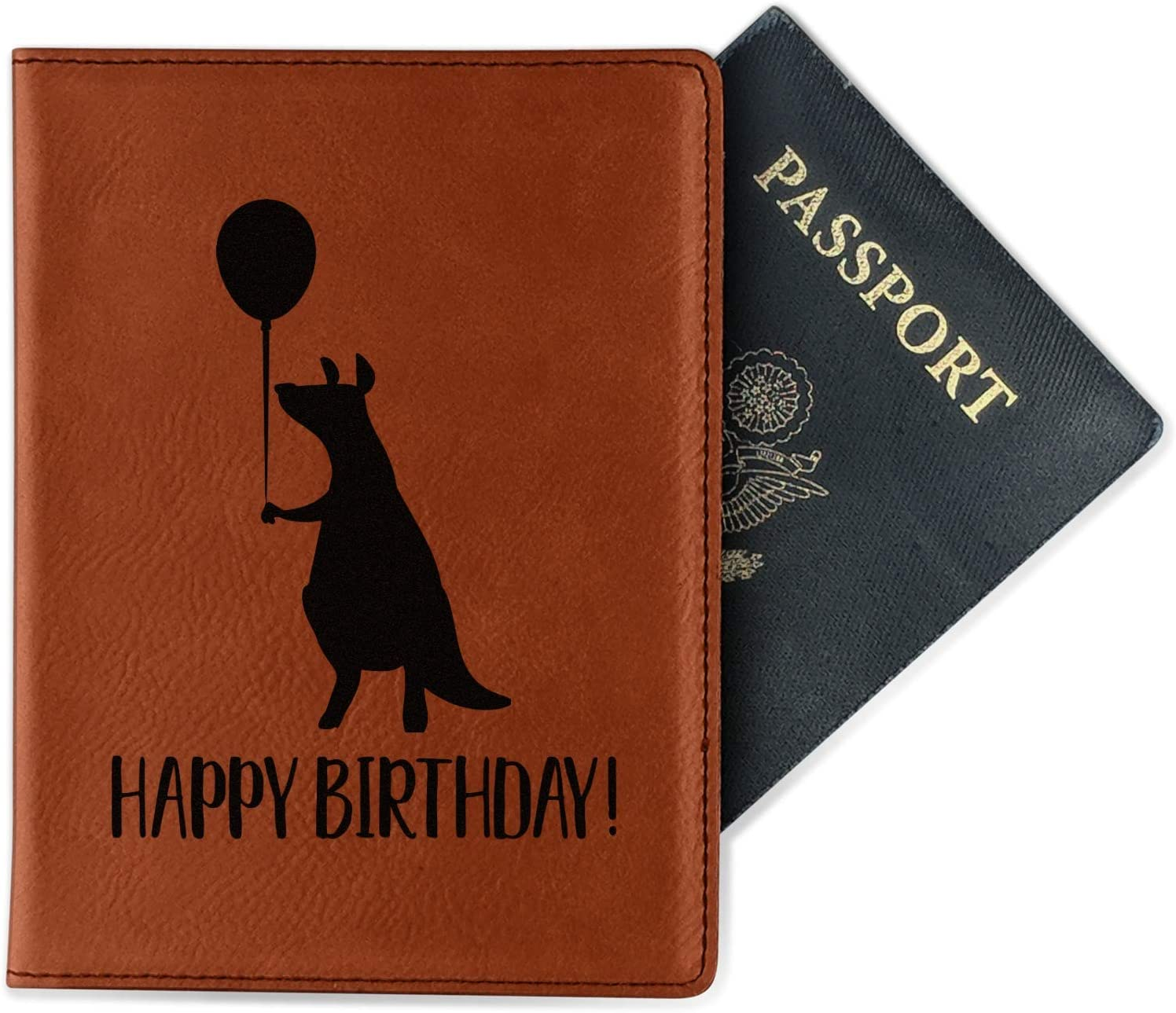 Animal Friend Birthday Leatherette Passport Holder Double Sided Personalized