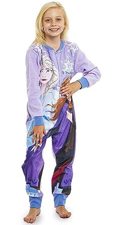 nuovi stili e497b 7d8c6 Disney Frozen 2 Pigiama Intero in Pile Bambina di Elsa ed Anna ...
