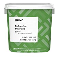 Deals on Amazon Brand Solimo Dishwasher Detergent Pacs, Fresh Scent, 85 Count