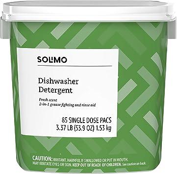 Amazon.com: Amazon Brand – Solimo lavavajillas detergente ...