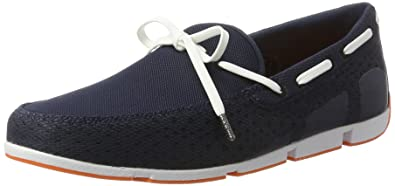 Braided Lace Loafer, Mocassins (Loafers) Homme, Bleu (Navy/Green), 40Swims