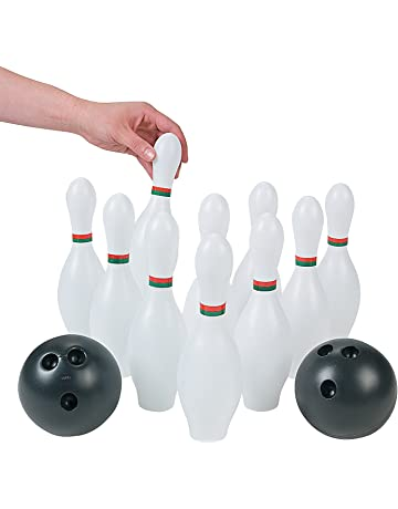Kids Plastic 12 Pc Bowling Set Party Toys