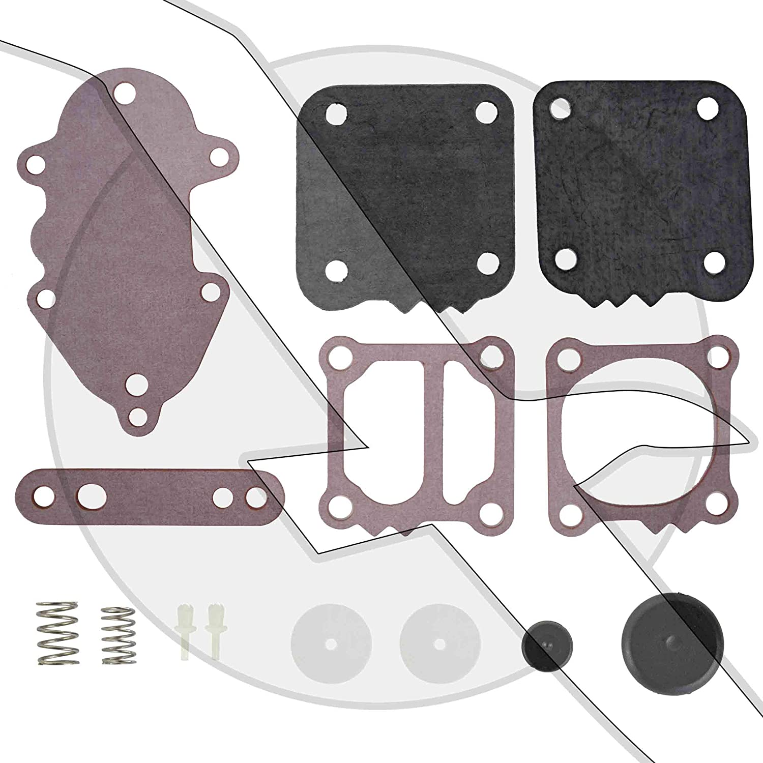 emp Outboard Fuel Pump Diaphram Gasket Kit for Mercury/Mariner Outboard 21-857005A1