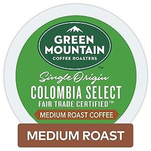 Green Mountain Coffee Roasters Colombian Fair Trade Select Keurig Single-Serve K-Cup Pods, Medium Roast Coffee, 96 Count