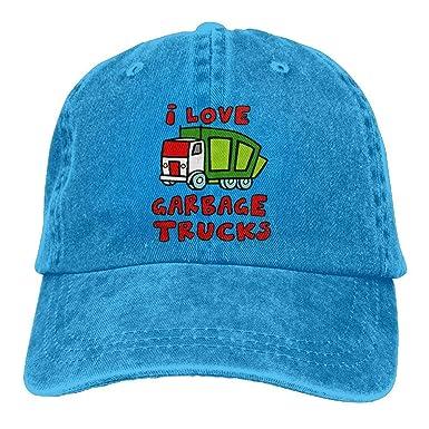 Love Garbage Trucks Unisex Ajustable Gorras De Béisbol Denim ...