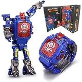 Juguete Reloj Transformers Juguetes Niños 2 en 1 Transformadores electrónicos Juguetes Reloj Robot deformado…