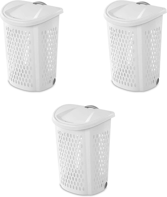 STERILITE Laundry Hamper, 2 Bushel, White