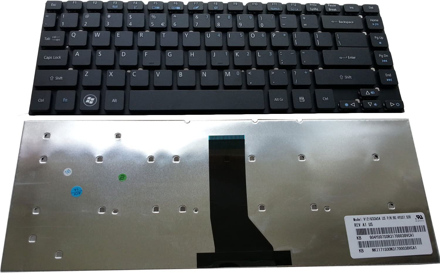Notebook Keyboard for Acer Aspire ES1-511 E5-411 E5-471 E1-470 E1-432 V3-472 E1-422 3830 4830 4755 E1-472 E1-410 ES1-411 E1-430 E5-421 ES1-421 ES1-431 V3-431 V3-471 US Black keypad
