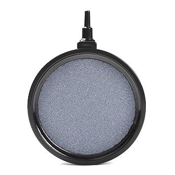ATPWONZ Acuario Aire Piedra - Burbuja Piedra Pescado Tanque Estanque Bomba Difusor Placa para Hidropónico Placa de Oxígeno Estanque (10.7 x 2 cm): ...