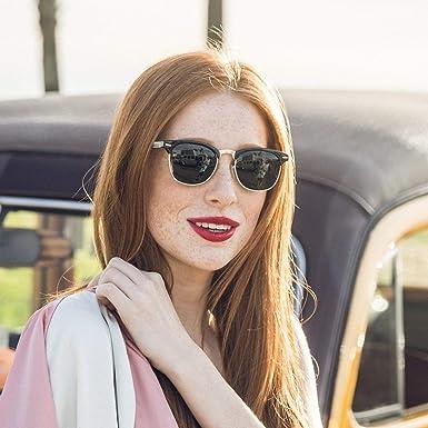 c5d40e1fc2f Amazon.com  WOODIES Half-Rim Ebony Wood Sunglasses with Black Polarized  Lenses  Clothing