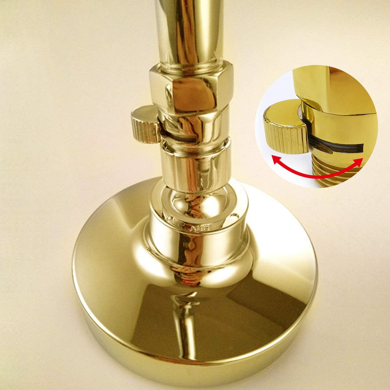 Shut Off Valve Water Flow Control Valve Brass G 1//2 for Hand Shower Shower Head Bidet Sprayer Polish Gold Water Cut Valve