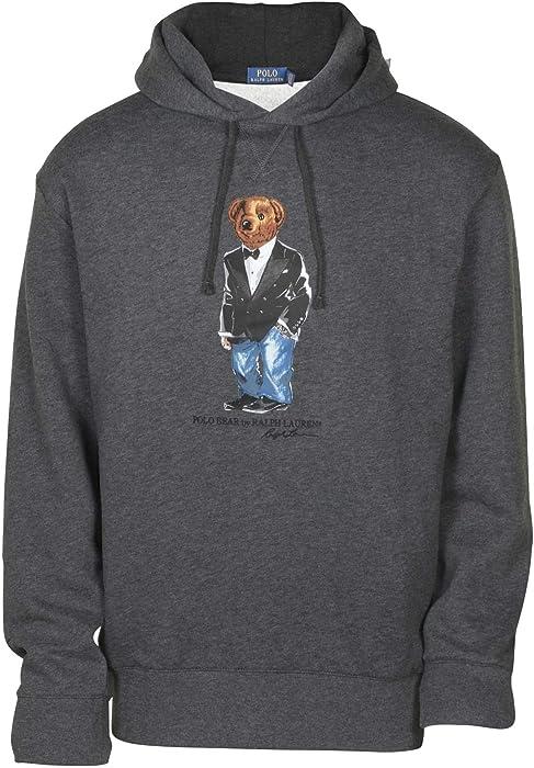 ee82e1804 Polo Ralph Lauren Tuxedo Bear Hoodie Sweatshirt Fleece XXL Grey at ...