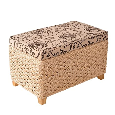 Astounding Amazon Com Wz Ottomans Weave Footstool Multifunctional Gamerscity Chair Design For Home Gamerscityorg