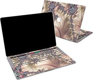 Lex Altern Vinyl Skin for MacBook Air 13 inch Mac Pro 16 15 Retina 12 11 2020 2019 2018 2017 Rose Gold Fractal Abstract Pearl Paint Art Luxury Keyboard Decal Sticker Designed Wrap Laptop Trackpad
