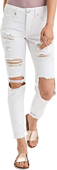 American Eagle Jean Tomgirl Para Mujer Color Blanco Destruido Blanco Destroyed White L Amazon Com Mx Ropa Zapatos Y Accesorios