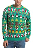 *daisysboutique****** Daisyboutique Men's Christmas Decorations Stripes Sweater Cute Ugly Pullover