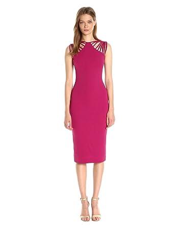 088807c3a47b Dress the Population Women s Gwen Cutout Stretch Midi Dress at ...
