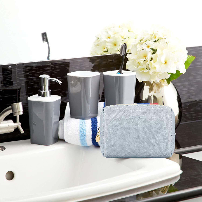 Amazon.com: Gonex - Neceser de viaje de piel para cosméticos ...
