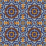 16 Mexican Talavera Tiles made in Mexico. You will receive the same designs as the picture. Tiles may present slight variations on color, designs and size due to its handmade process. These are not seconds. No matter how big your order, we ca...