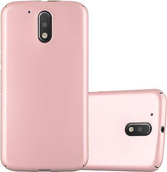 Cadorabo Funda para Motorola Moto G4 / Moto G4 Plus en Metal Oro Rosa: Amazon.es: Electrónica