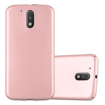 Cadorabo Funda para Motorola Moto G4 / Moto G4 Plus en Metal Oro Rosa - Cubierta Protección de Plástico Duro Super Delgada e Inflexible con Antichoque ...