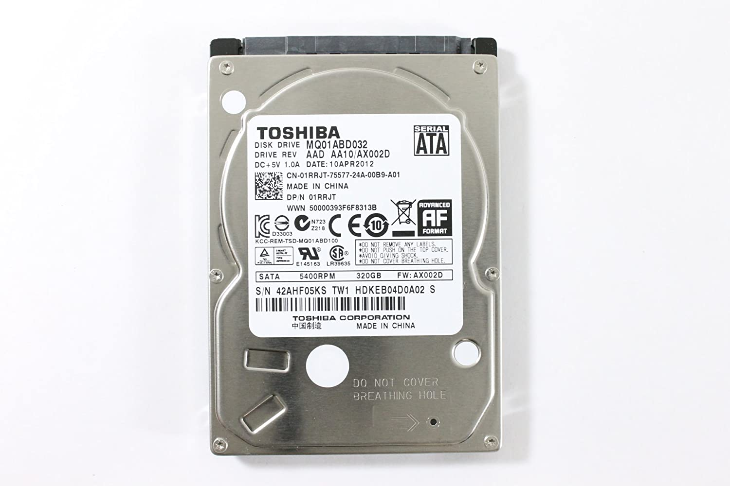 "Dell 1RRJT MQ01ABD032 2.5"" SATA 320GB 5400 Toshiba Laptop Hard Drive Latitude E6420"