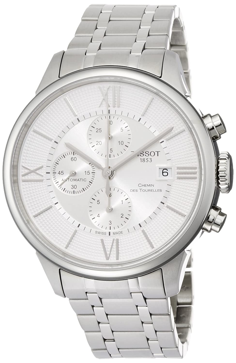 Tissot Men s T-Classic Swiss-Automatic Watch with Stainless-Steel Strap, Silver, 21 Model T0994271103800
