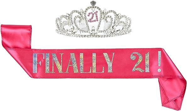 Amazon.com: 2-Pack Conjunto de cumpleaños niña Tiara y ...