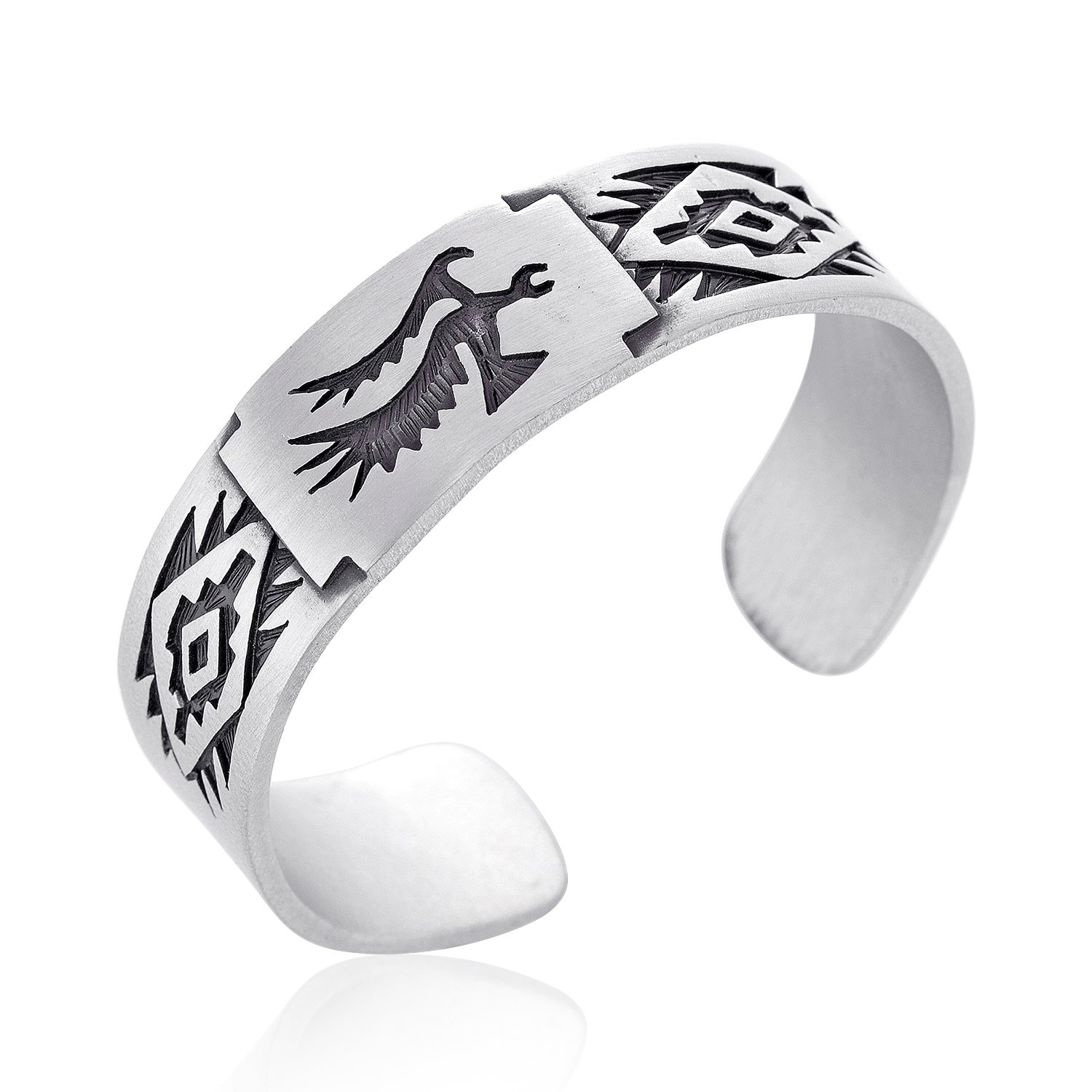 Dan's Jewelers Native American Indian Style Phoenix Bracelet, Fine Pewter Jewelry