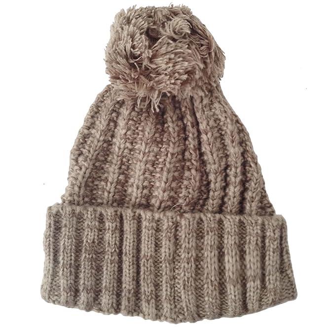 Toocool - Cappello tricot invernale maglia grossa PON PON cappellino donna  nuovo AJ15-10 BEIGE ac3fc8e7a065