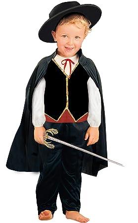 FIORI PAOLO 61337.3 - 4 - Bandito disfraz niño, Negro, 3 - 4 años ...