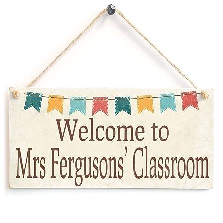 Bienvenida personalizada a la Señora Ferguson del aula ...