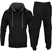 Love My Fashions Mens Tracksuit Set New Contrast Cord Fleece Hoodie Top Bottoms Jogging Zip Joggers Gym Sport Sweat Suit Pants Plus Size S M L XL XXL