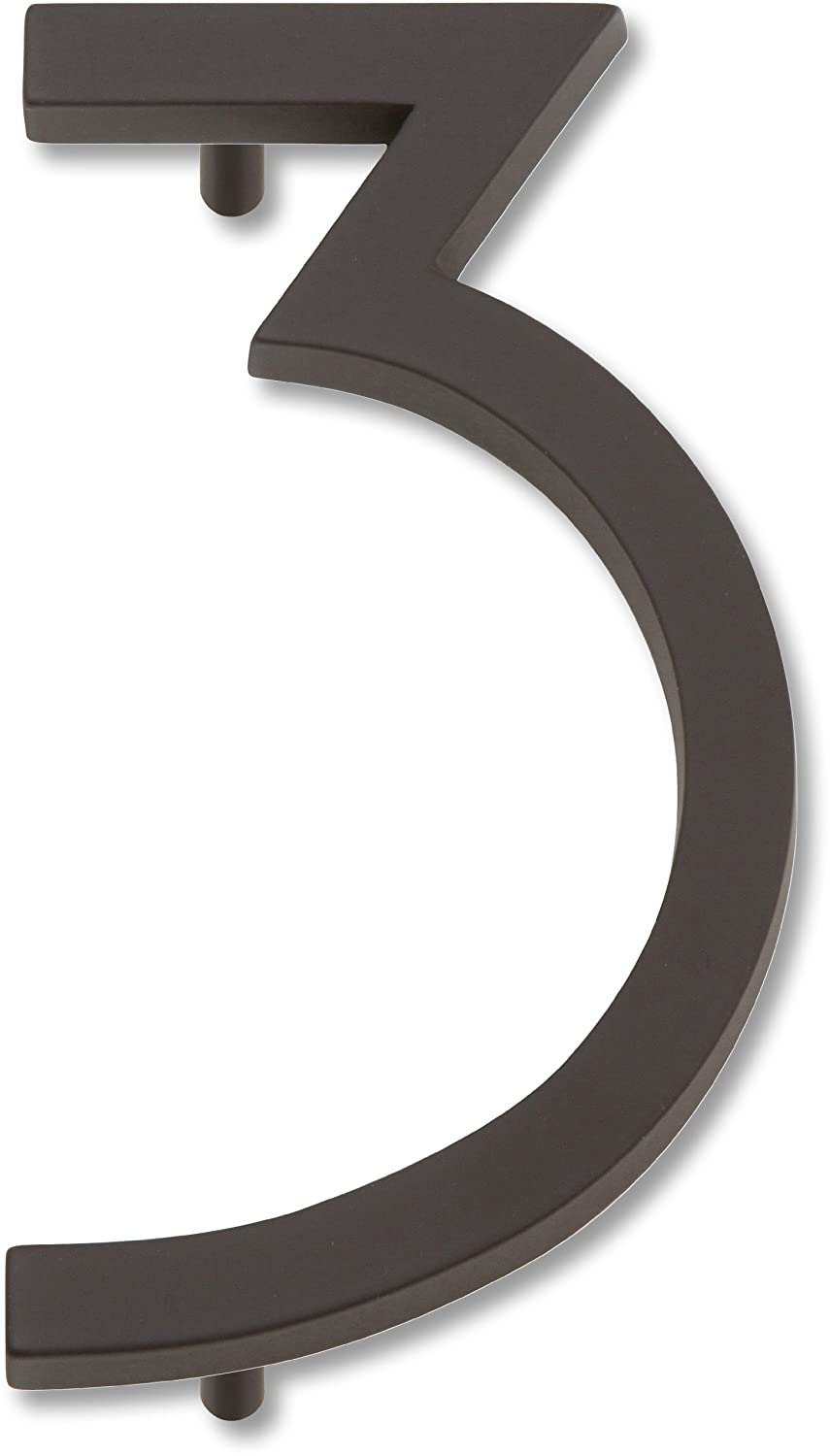 Atlas Homewares AVN3-O Modern Avalon House Number, Three, Aged Bronze