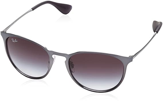 959a85412e3c2 Image Unavailable. Image not available for. Color  Ray-Ban Erika Metal  RB3539 192 8G Non Polarized Sunglasses Shot Grey Metallic Frame