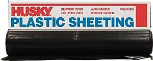Husky CF0614B Plastic Sheeting, 14' x 100', Black
