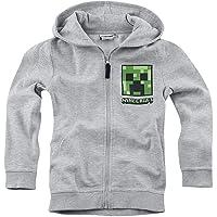 Minecraft Creeper Kids & Babies - Chaqueta con capucha para niños y bebés, color gris