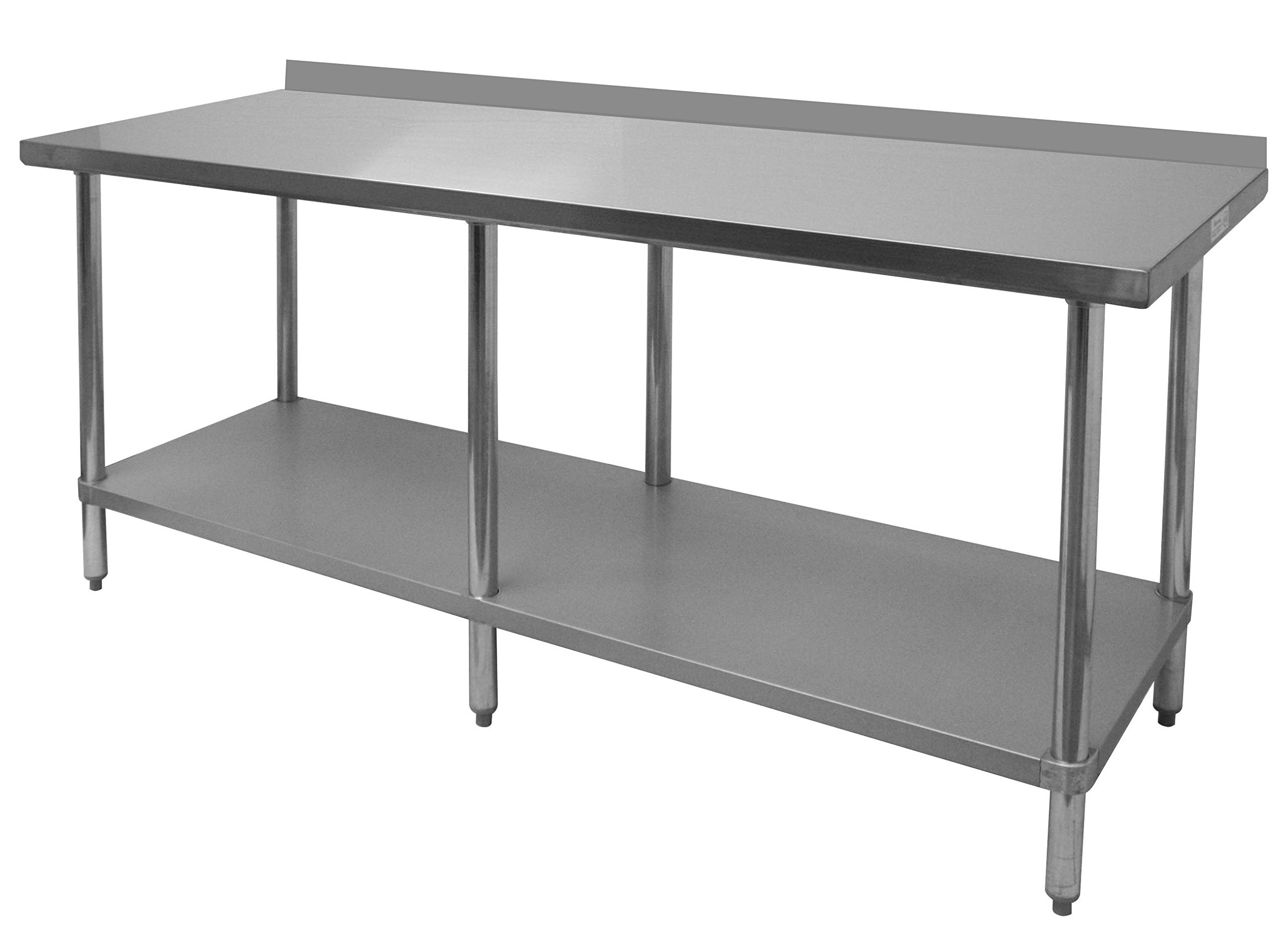 EquipmentBlvd Commercial Grade Flat Top Work Table with Stainless Steel Top & 3'' Dia. Casters for Restaurant, Home, Office, Kitchen or Garage, 30'' W x 96'' L x 35'' H, ETL or NSF Certified.