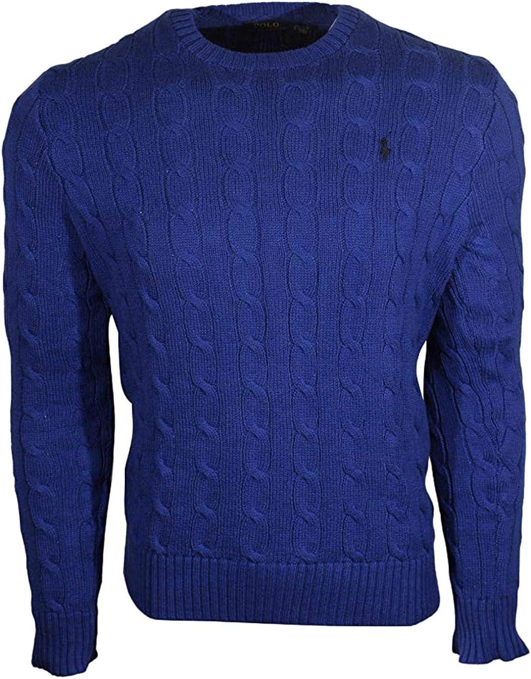 S/ /XXL verschiedene Farben Ralph Lauren Herrenpullover Rundhals gestrickt