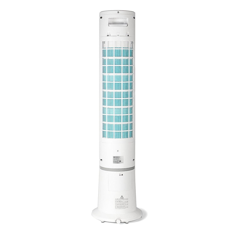 3 Livelli di Potenza 55 Watt Ionizzatore Raffreddamento Bianco Display LC Umidificatore Oscillazione 80/° TECVANCE Ventilatore a Torre con Telecomando
