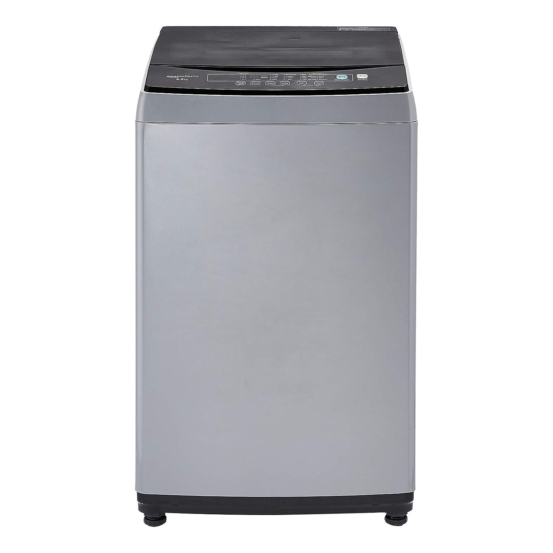 AmazonBasics 8.5 kg Top Load Washing Machine (Grey/Black, Full Metal body, LED Display)