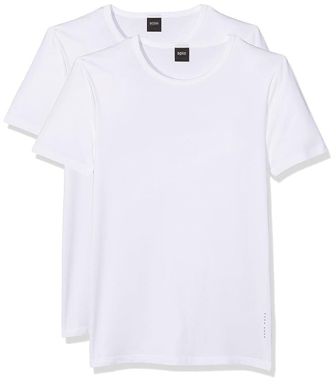 Amazon.com: HUGO BOSS 2 Pack Slim fit round neck t-shirt, shirt RN Uni S-XXL - black or white: Clothing