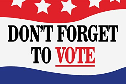 Image result for don't forget to vote