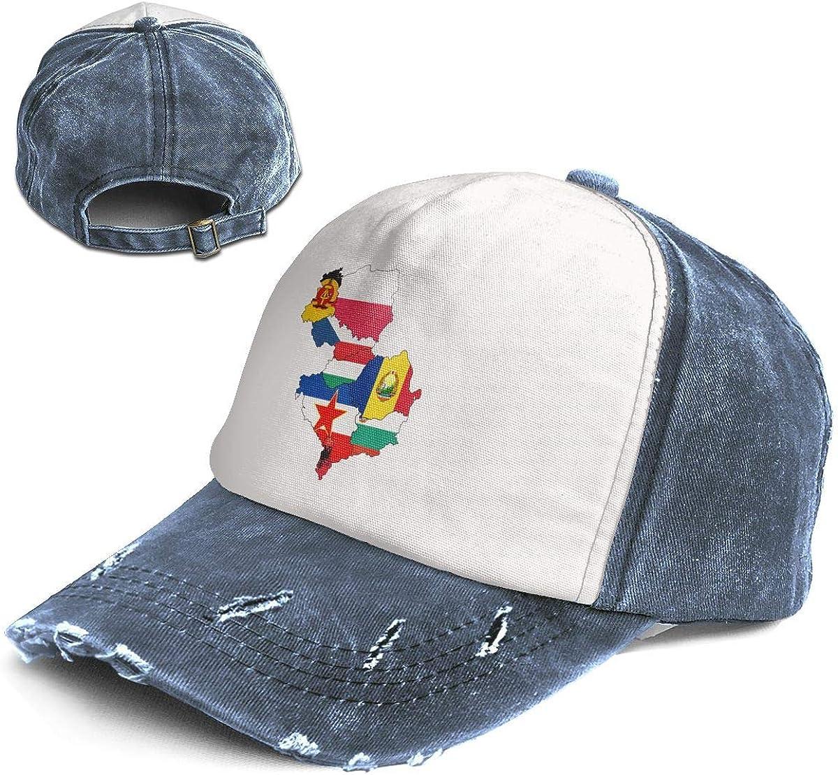 Fashion Vintage Hat Flag Map of Eastern Bloc Countries Adjustable Dad Hat Baseball Cowboy Cap