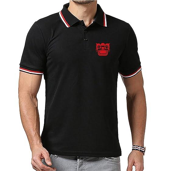 Lion Dance T Shirt Design | Amazon Com Lion Dance Head Design Mens Polo Shirt Casual Slim Fit