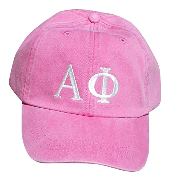 c75fe57f359 Mega Greek Womens Alpha Phi Baseball Cap Pink at Amazon Women s Clothing  store