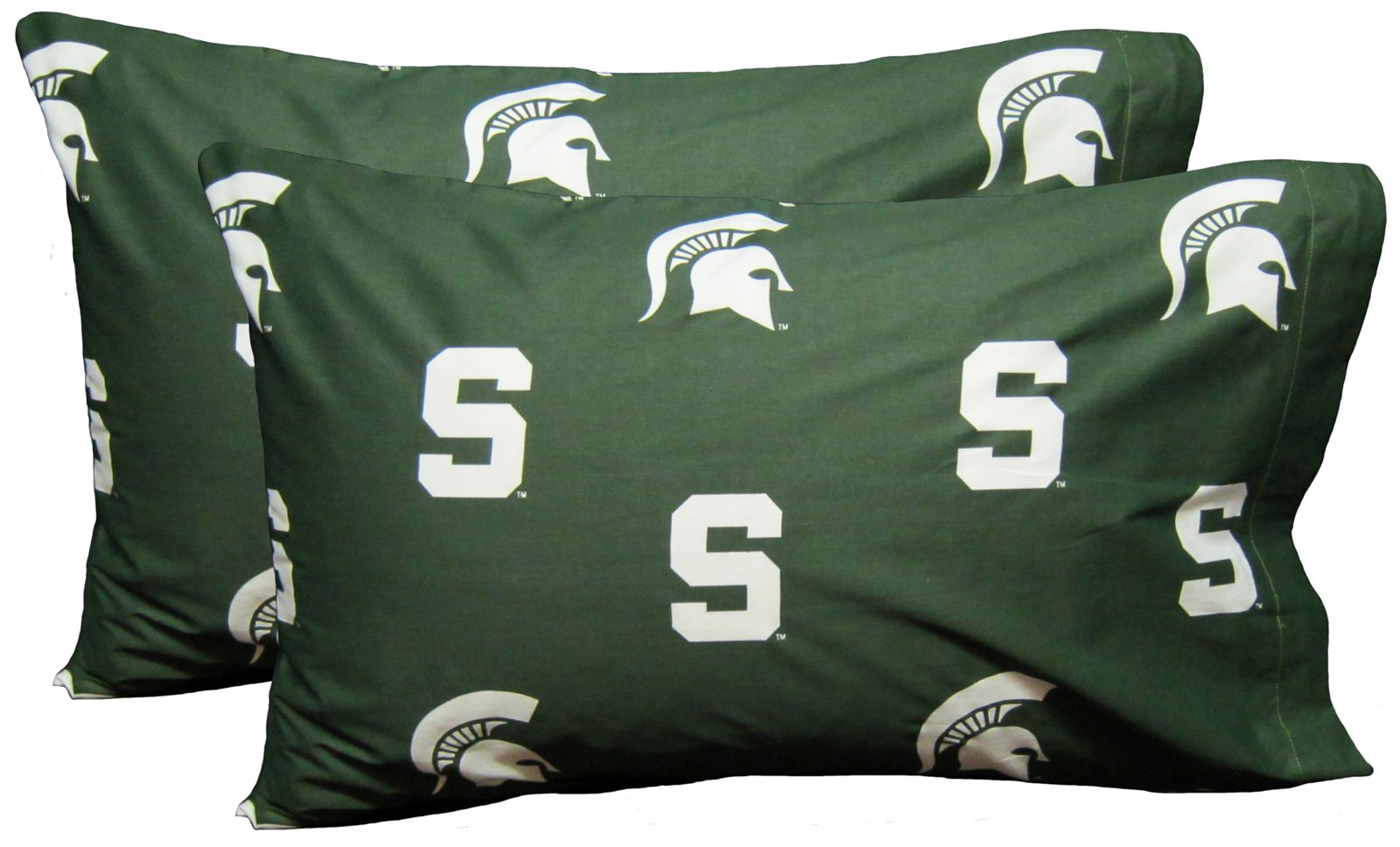 College Covers Michigan State Spartans Pillowcase Pair - Solid (Includes 2 Standard Pillowcases) by College Covers